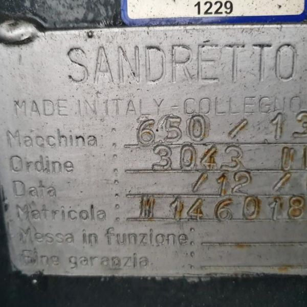 Sandretto 9 s 130 ton